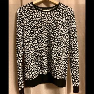 Ann Taylor shimmery cheetah print sweater